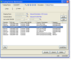 Screenshot showing B to B-Link Trading Partner Maintenance